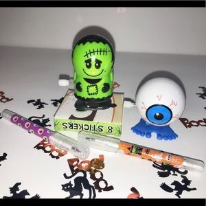 Other - Halloween wind up toys stickers pens fun
